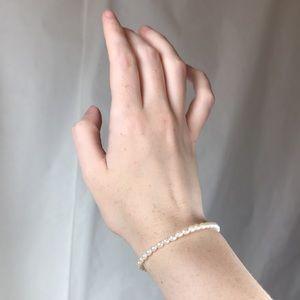 Freshwater pearl vintage bracelet sterling silver